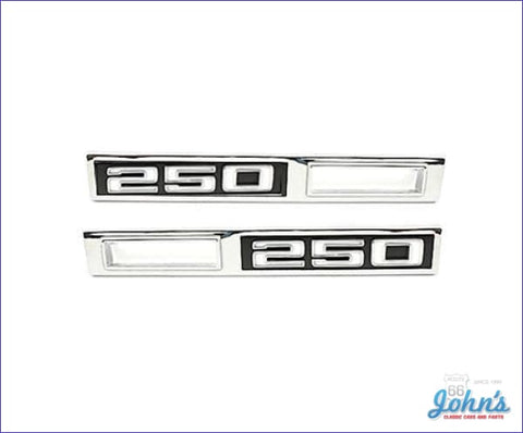 Front Sidemarker Bezels 250 Pair Gm Licensed Reproduction A