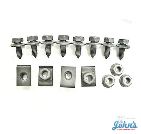 Front Valance Panel Mounting Hardware Kit 15 Piece A