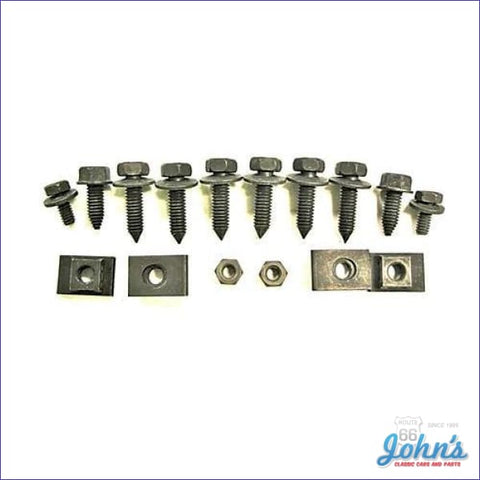 Front Valance Panel Mounting Hardware Kit 16 Piece. A