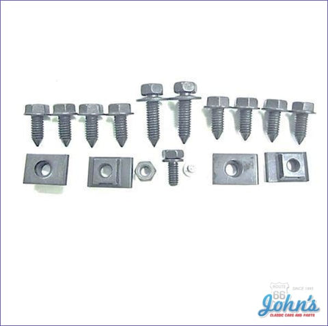Front Valance Panel Mounting Hardware Kit 17 Piece. A