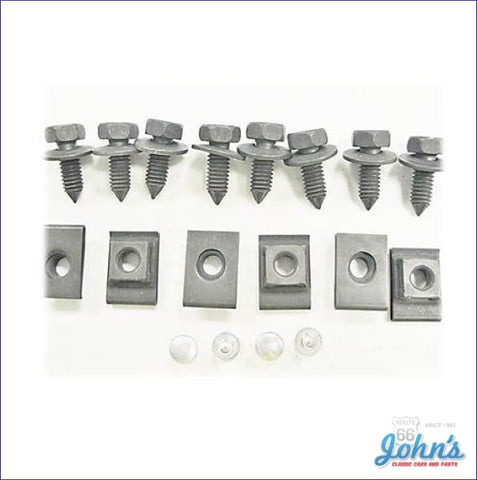 Front Valance Panel Mounting Hardware Kit 18 Piece. A