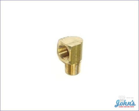 Fuel Pump Fitting 90 Degree 1/4 X Adapter A F2 F1