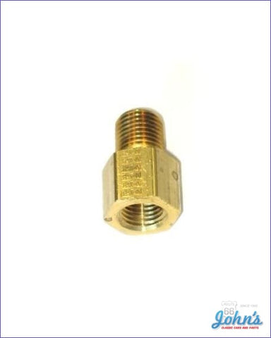Fuel Pump Fitting Straight 1/4 X Adapter A F2 F1