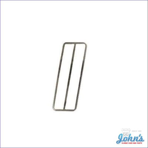 Gas Pedal Trim Except 70-71 Z28 With Floor Mounted Gas Pedal. Gm Licensed Reproduction. F2