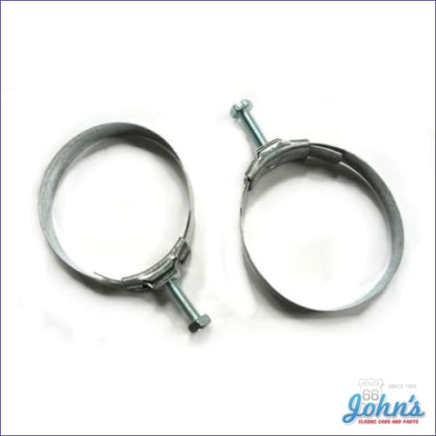 Gas Tank Filler Neck Hose Clamps 2Pc - Tower Style. Wagon Only. A