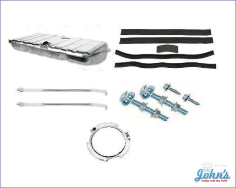 Gas Tank Kit Without Sending Unit With Stainless Steel Tank And Straps. (Os2) F1