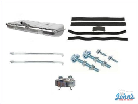 Gas Tank Kit Without Sending Unit With Stainless Steel Tank And Straps. (Os3) F1
