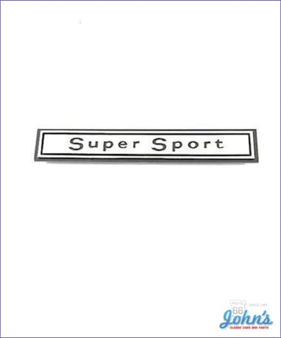 Glovebox Bezel Emblem Super Sport - Gm Licensed Reproduction A