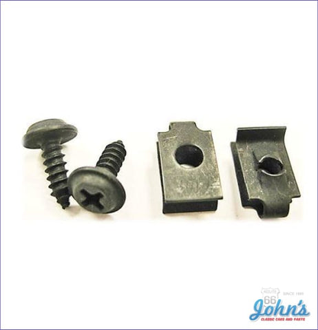 Glovebox Latch And Striker Mounting Hardware Kit 4 Piece Set A
