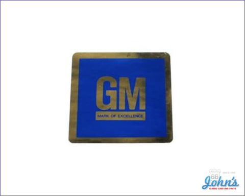 Gm Mark Of Excellence Door Decal Blue Sticker Type. Each A X F1 F2