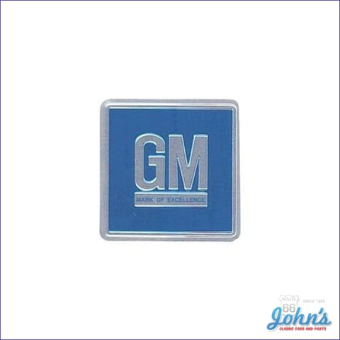 Gm Mark Of Excellence Door Emblem Blue Metal Type Sticker. Each A X F2 F1