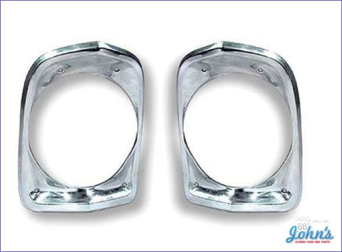 Headlight Bezel Gm Licensed Reproduction. Pair X