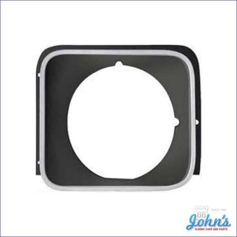 Headlight Bezel Lh Black - Ss Models X