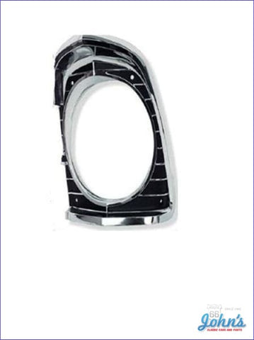 Headlight Bezel Lh Gm Licensed Reproduction X