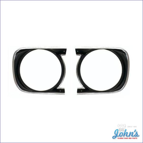 Headlight Bezels- Standard- Pair Gm Licensed Reproduction F1