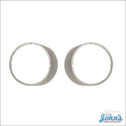 Headlight Bezels Without Chrome Trim- Standard-Pair Gm Licensed Reproduction F1