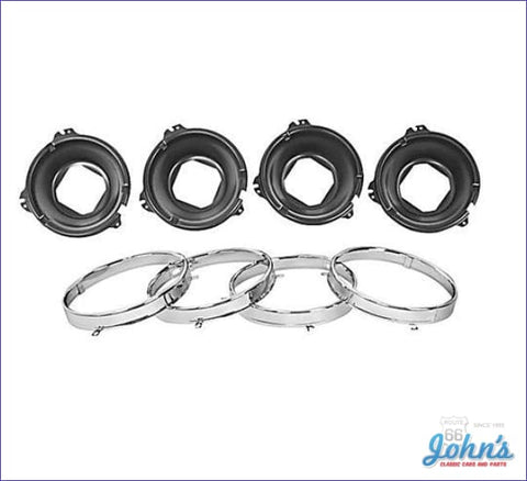Headlight Mounting Bucket And Ring Kit- 8Pc A