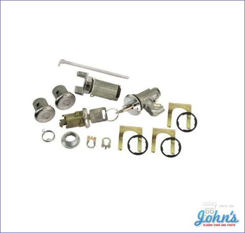Ignition Door Glovebox And Trunk Lock Kit With Oe Style Keys A X