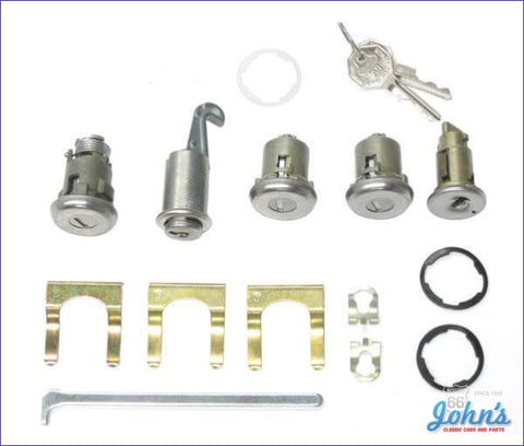 Ignition Door Glovebox And Trunk Lock Kit With Oe Style Keys X