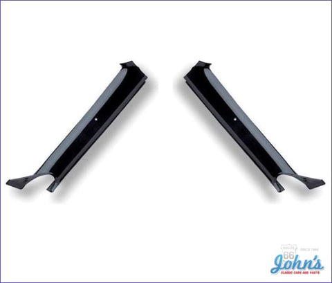 Interior Pillar Post Moldings Convertible Black Pair Gm Licensed Reproduction F1