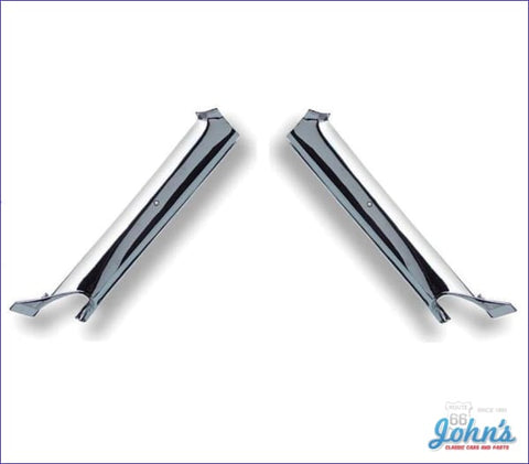 Interior Pillar Post Moldings Convertible Chrome Pair Gm Licensed Reproduction F1