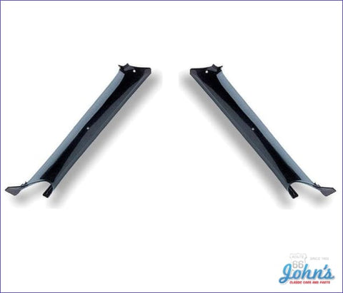 Interior Pillar Post Moldings Coupe Black Pair Gm Licensed Reproduction F1