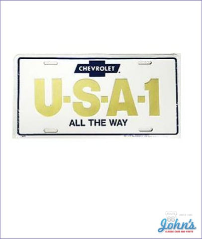 License Plate - Chevrolet U-S-A-1 All The Way A F2 X F1