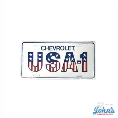 License Plate - Chevrolet Usa-1 Red White And Blue A F2 X F1