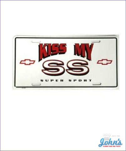 License Plate - Kiss My Ss A F2 X F1