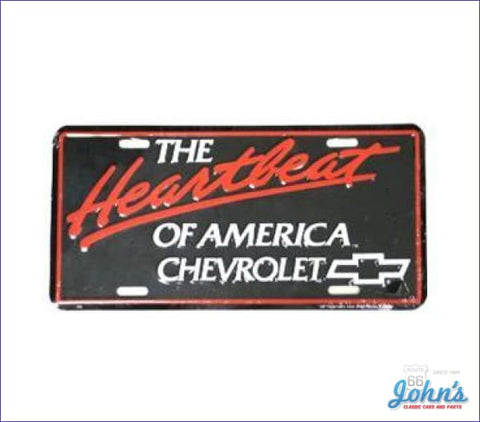 License Plate - The Heartbeat Of America Chevrolet A F2 X F1