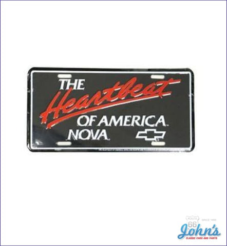 License Plate - The Heartbeat Of America Nova X