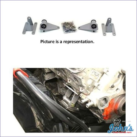 Ls Conversion Engine Mount And Frame Bracket Kit. Includes Hardware. A