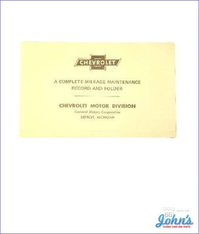 Maintenance Schedule Folder A