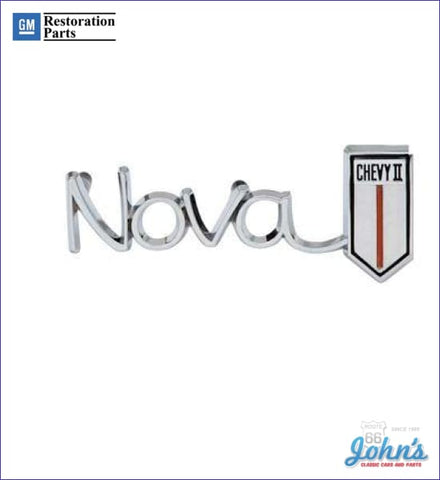 Nova Chevy Ii Dash Emblem Gm Licensed Reproduction X