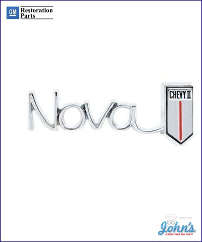 Nova Chevy Ii Glovebox Emblem Gm Licensed Reproduction X