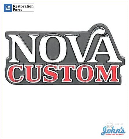 Nova Custom Grille Emblem Gm Licensed Reproduction X