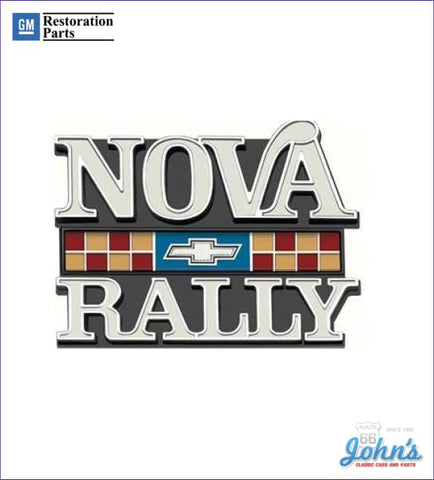 Nova Rally Grille Emblem Gm Licensed Reproduction X