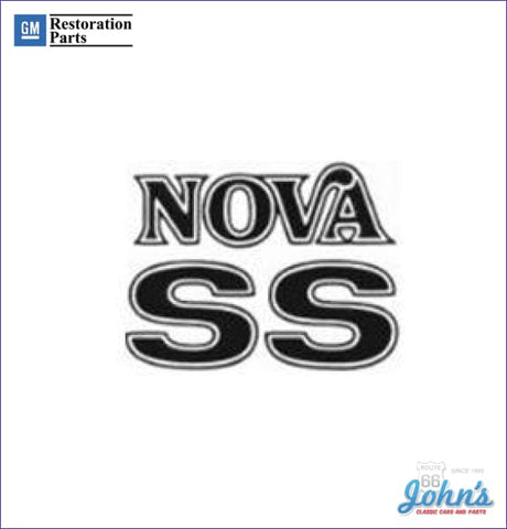 Nova Ss Fender And Trunk Decals Set Of 3 Gm Licensed Reproduction Choose Color X
