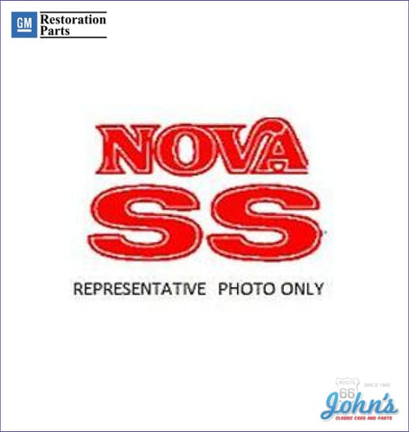 Nova Ss Fender And Trunk Decals Set Of 3 Gm Licensed Reproduction Metallic Red X