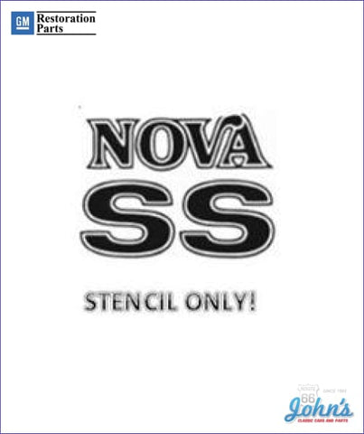Nova Ss Fender And Trunk Stencil Kit Use To Paint Your Own Color Gm Licensed Reproduction X