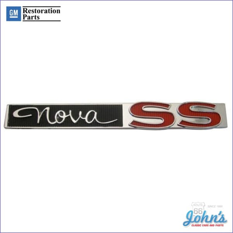 Nova Ss Glovebox Emblem Gm Licensed Reproduction X