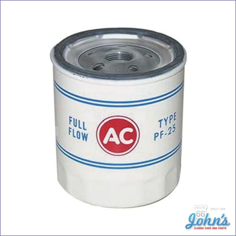 Oil Filter Spin On Style Pf25 Sb Or Bb A F2 X F1