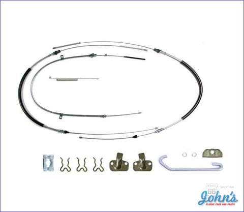 Park Brake Cable Kit With Hardware Rear Drums. Oe Steel F2