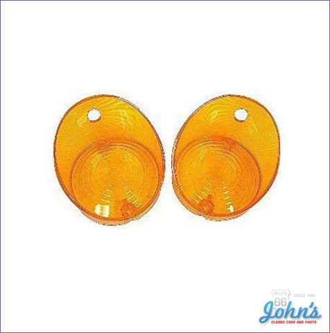 Park Lamp Lenses Amber Pair Reproduction A