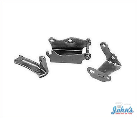 Power Steering Bracket Kit Bb With Long Water Pump 4Pc Gm Licensed Reproduction A X F1