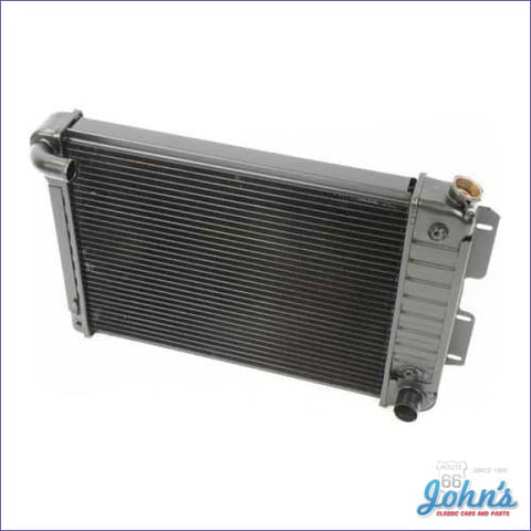 Radiator Big Block Automatic Transmission 4 Row Core Size 17 X 23 2-5/8 With Curved Inlet. (Os1) F1