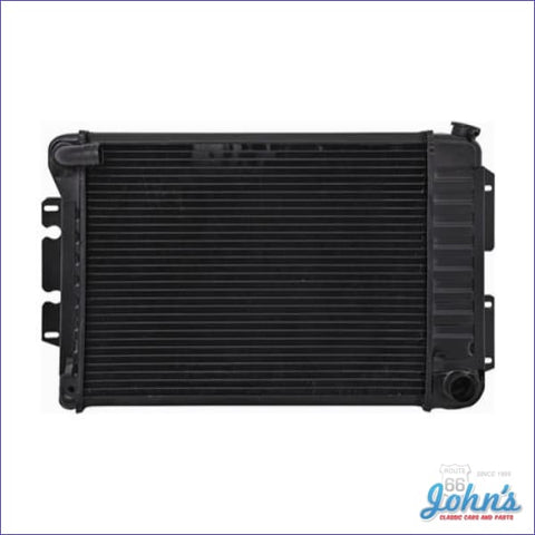 Radiator Big Block Manual Transmission 4 Row Core Size 17 X 23 2-5/8 With Curved Inlet. (Os1) F1
