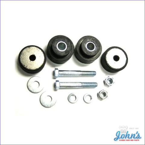 Radiator Support Bushing Kit With Hardware Correct Style A