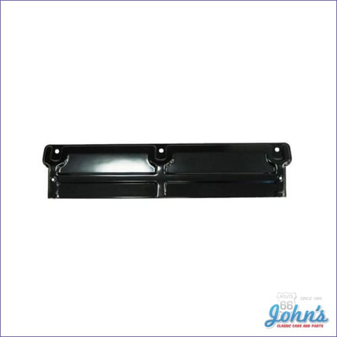 Radiator Top Plate Small Block Black With 3 Hole To Support Mounting. A