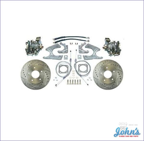 Rear Disc Brake Conversion Kit With Drilled & Slotted Rotors (Os1) A